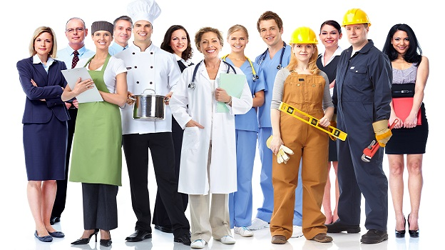 Jobs and occupations people can have
