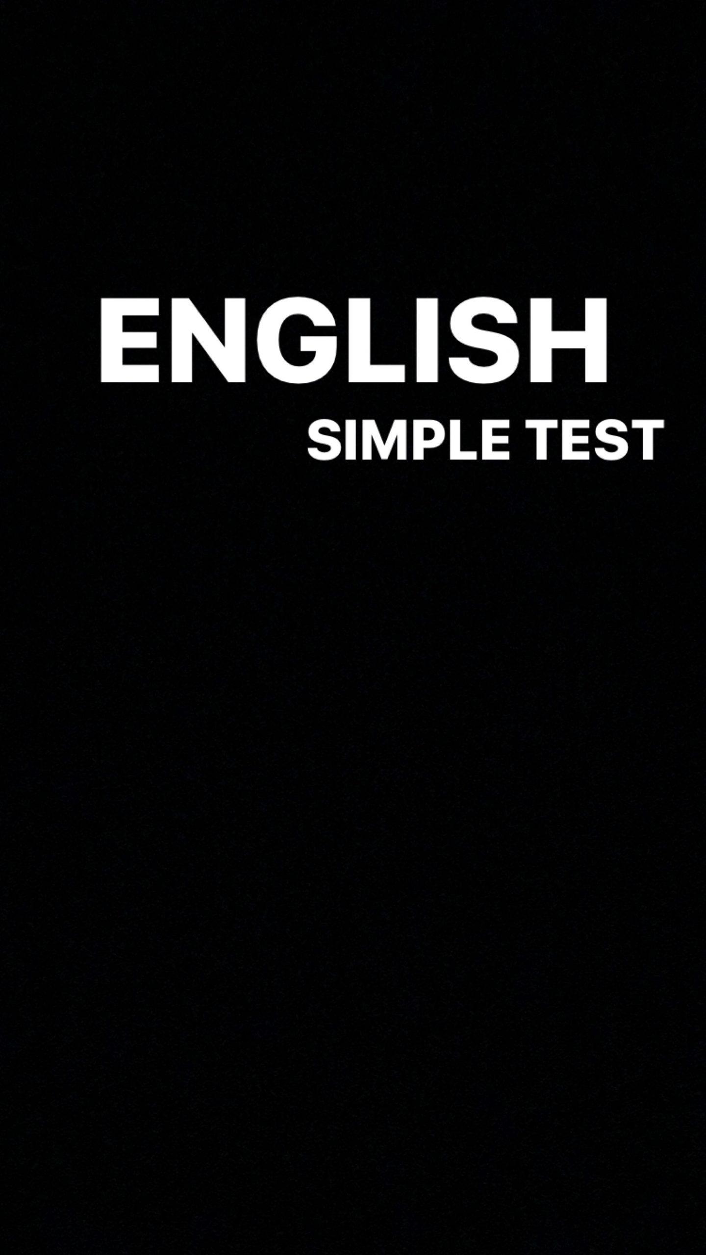 Simple English Quiz